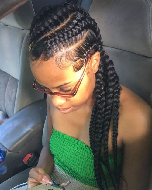Diagonală Big Cornrow Braids