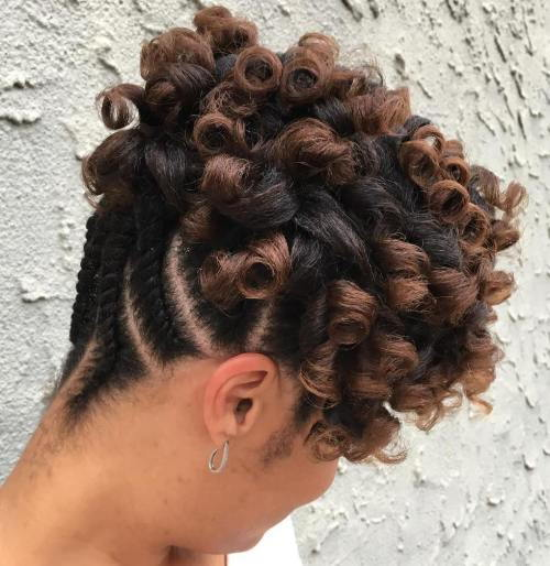 Creț Updo With Flat Twists Shorter Hair