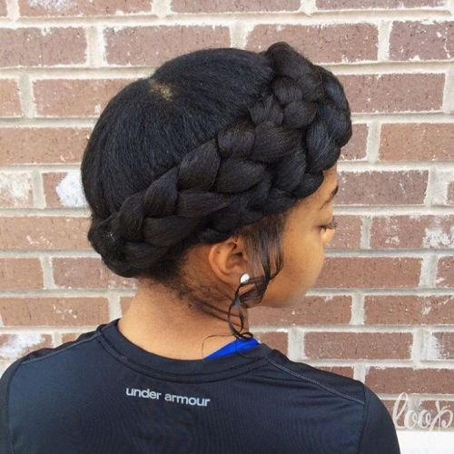 Negru Braided Crown
