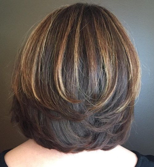 Layered Bob With Highlights For Thick Hair
