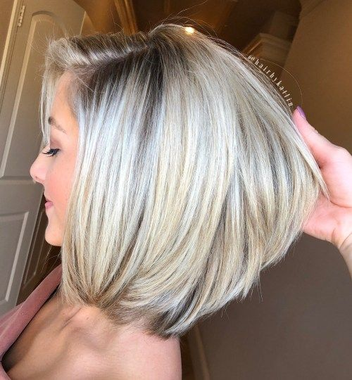 Vit Blonde Bob For Thick Hair