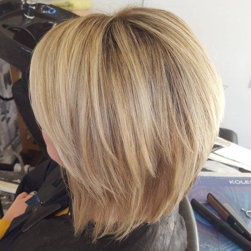 Kola Blonde Two-Tier Bob