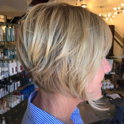 Pepel Blonde Layered Bob Over 50
