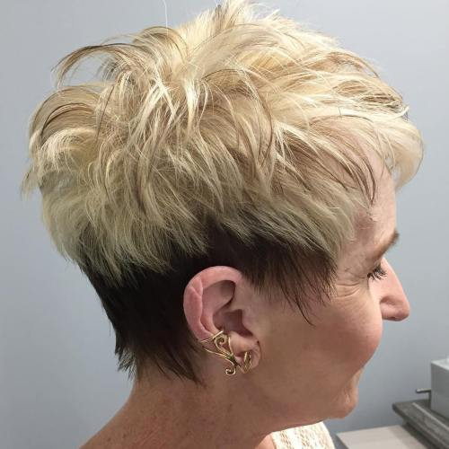rjav And Blonde Pixie For Women Over 50