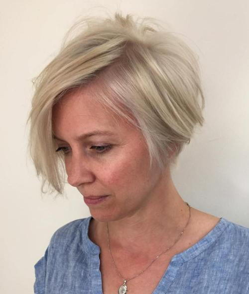 Pepel Blonde Bob For Women Over 40