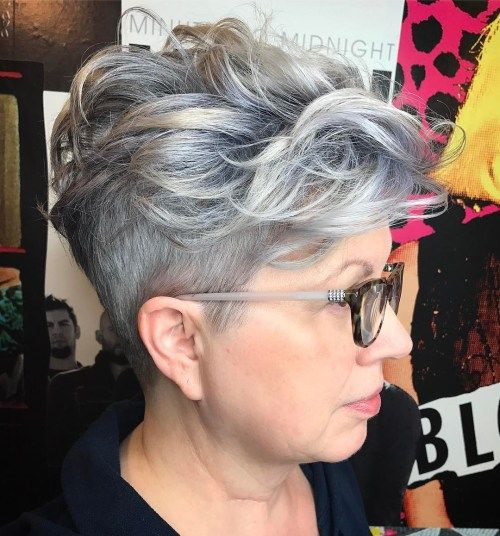 Več Short Curly Undercut Hairstyle