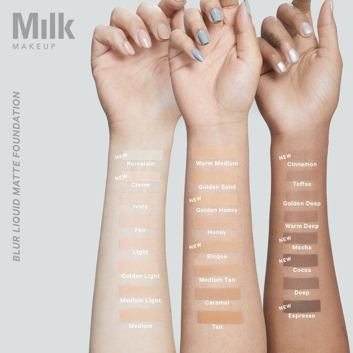 Lapte Makeup Blur Foundation Shades Swatch