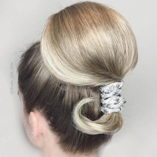 Elegant Ponytail Updo For A Bride