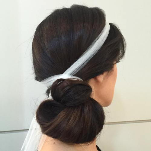 Sida Knot Updo For Long Hair