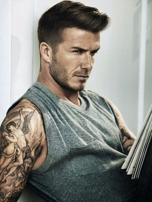 David Beckham disheveled hairstyle
