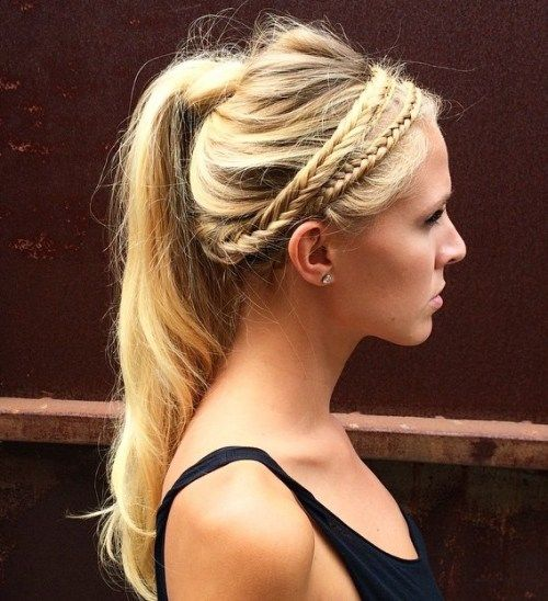Murdar Ponytail With Fishtail Headband