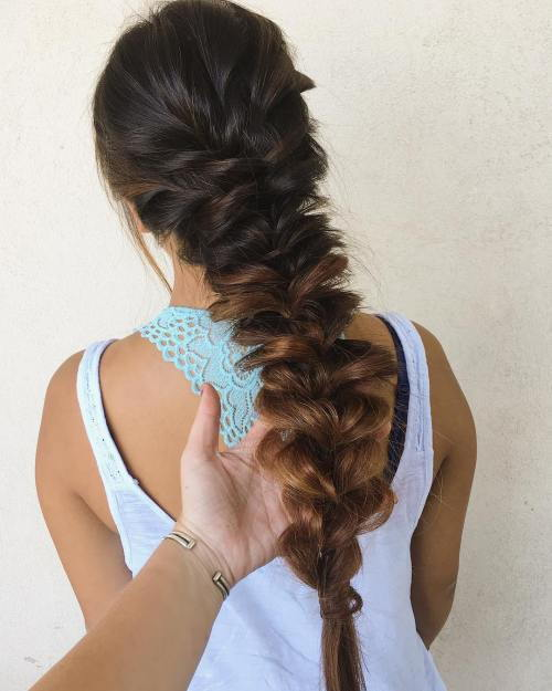 Pancaked Braid For Long Hair