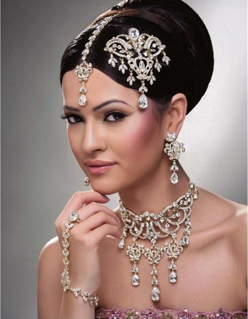 indian style bridal updo