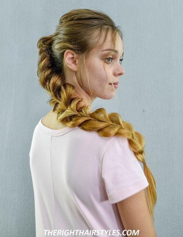 Сиде Swept Pull Through Braid