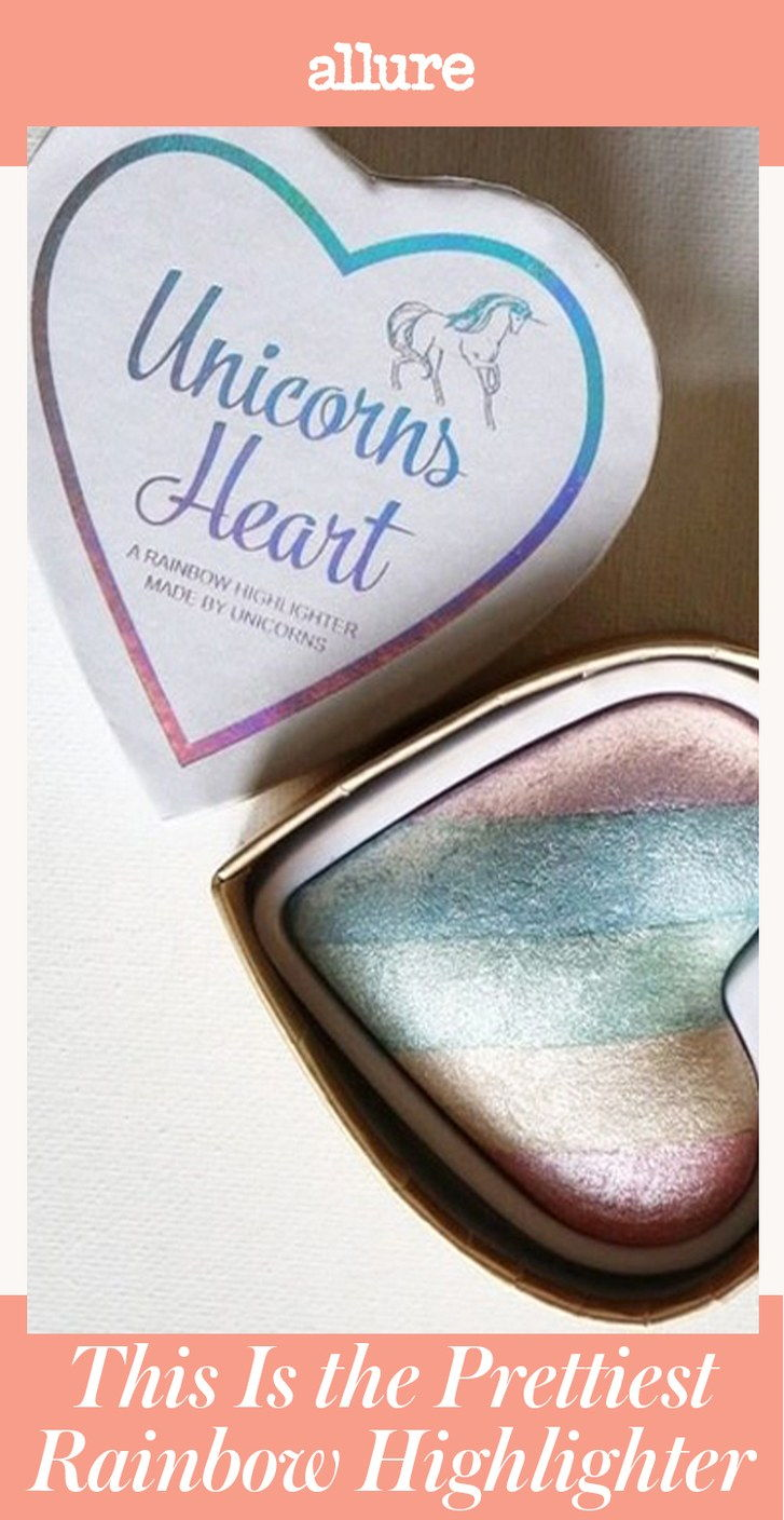 jaz Heart Makeup Unicorns Heart Is the Prettiest Rainbow Highlighter