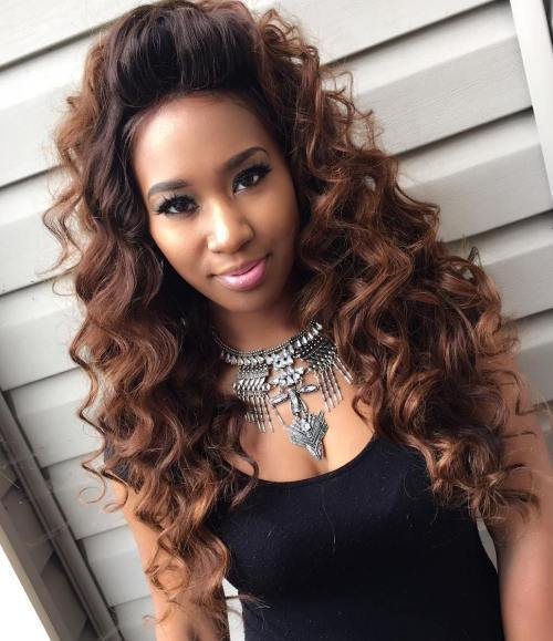 dlho Curly Sew In Hairstyle