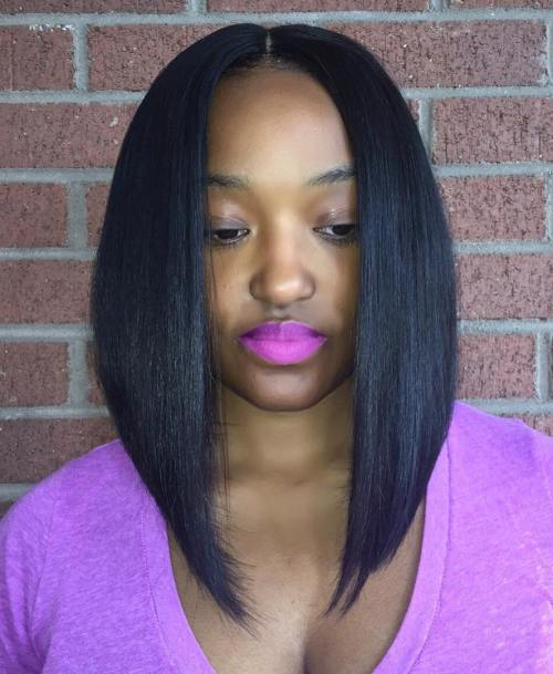 prostredný Part Angled Lob Sew In